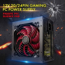 Max 650 Вт блок питания Пассивный PFC бесшумный вентилятор ATX 20/24pin 12 в ПК компьютер SATA игровой ПК блок питания