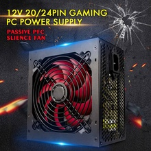 Fan Power-Supply Computer PC ATX Max-650w 20/24pin SATA Gaming 12V Passive-Pfc Silent