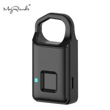 Купить с кэшбэком P4 Smart Fingerprint Door Lock Safe USB Charging Waterproof Anti Theft Lock Home Security