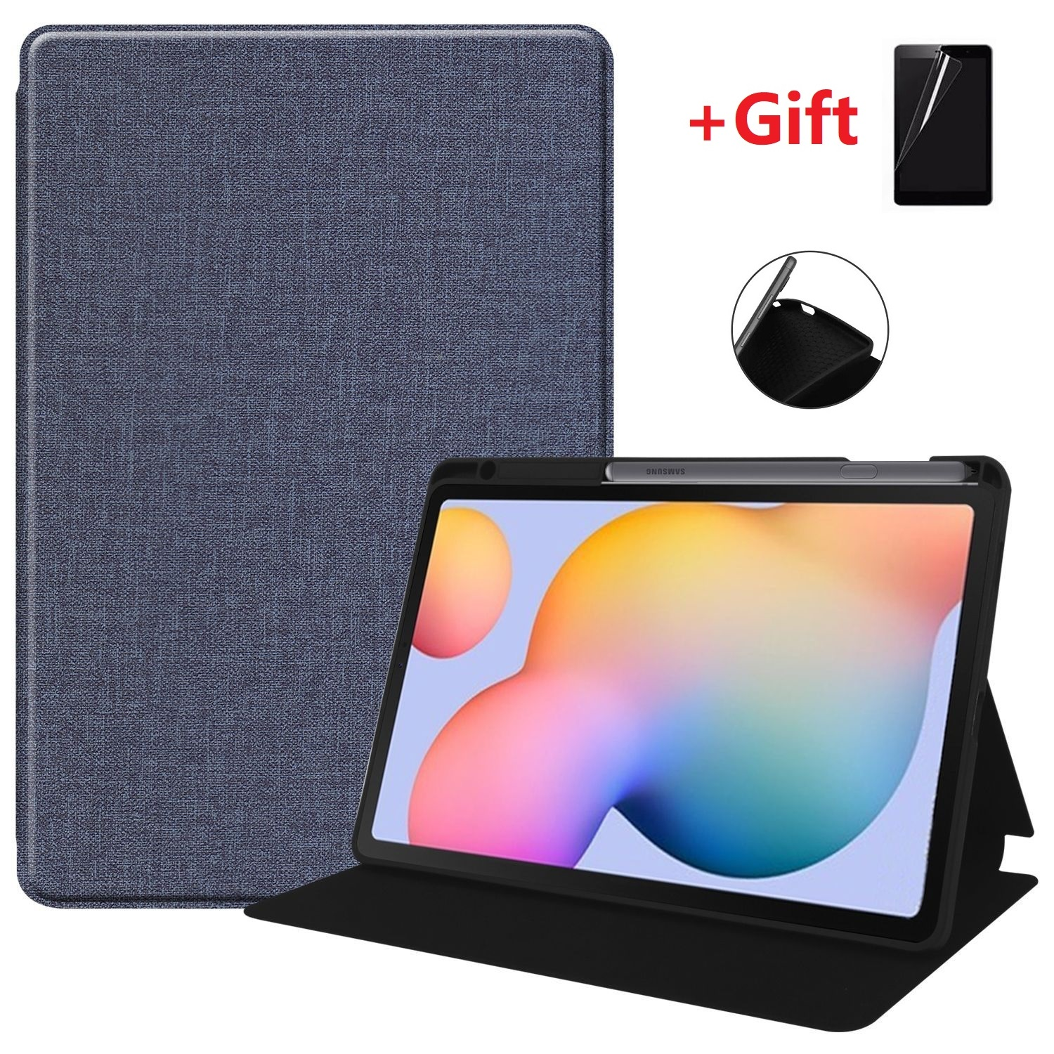 2020 New Model Samsung Galaxy Tab S6 Lite 10.4 Case 2020 Magnet Cover Tablet Shell SM-P610/P615 Trifold Stand Soft Back