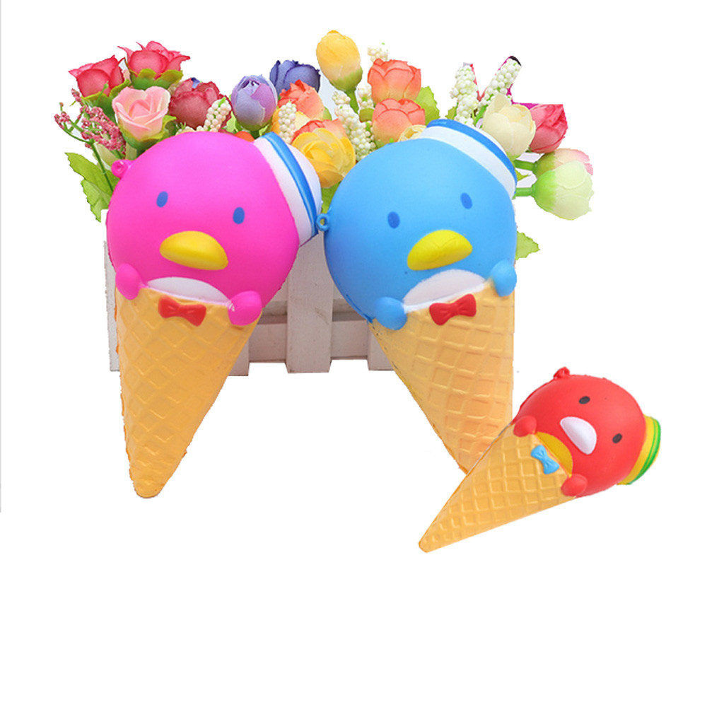 New Squishy New Cartoon Penguin Ice Cream Colossal Ice Cream Super Slow Rising Scented Relieve Stress Toy Gifts L103