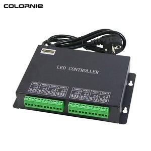 Светодиодный RGB контроллер WS2812b, 8192 пикселей, светодиодный программируемый контроллер для полос, светодиодный контроллер