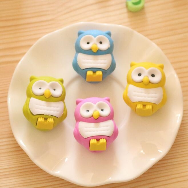 30pcs/lot Lovely 3D Owl Shape Eraser Rubber Stationery Kid Gift Toy School Supplies Office Series