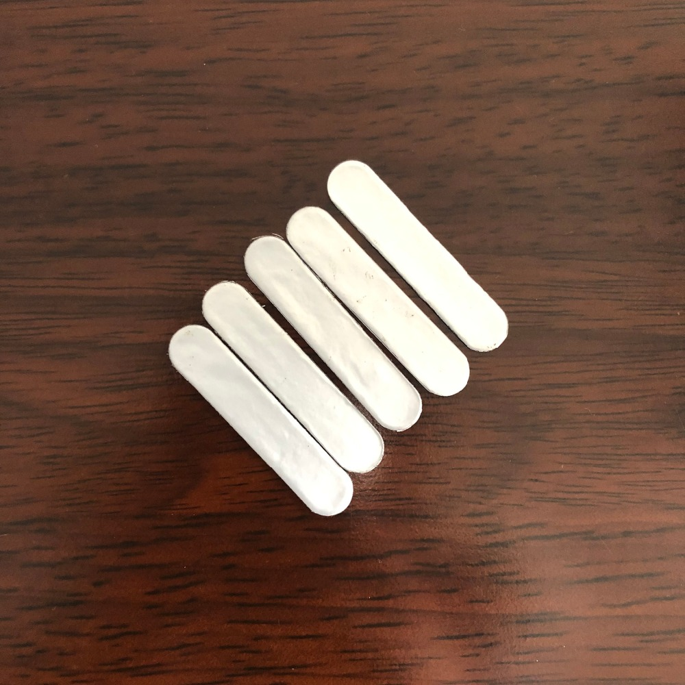 5pcs/lot Weighted Lead Tape Sheet Heavier Sticker Balance Strips Aggravated For Tennis Badminton Racket Golf Clubs 1.05 X 5 Cm