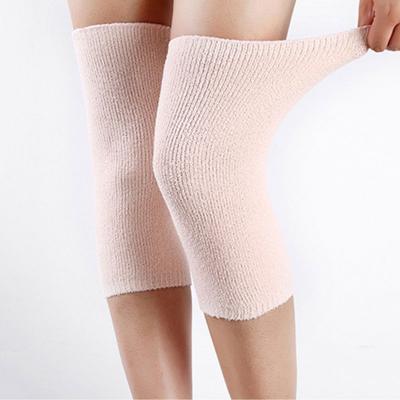 New Women's Warm Knee Kneepad Slim Knee Protector Room/Outdoor Breathable Knee Compression Sleeve Thermal Knee Pads To Keep Warm