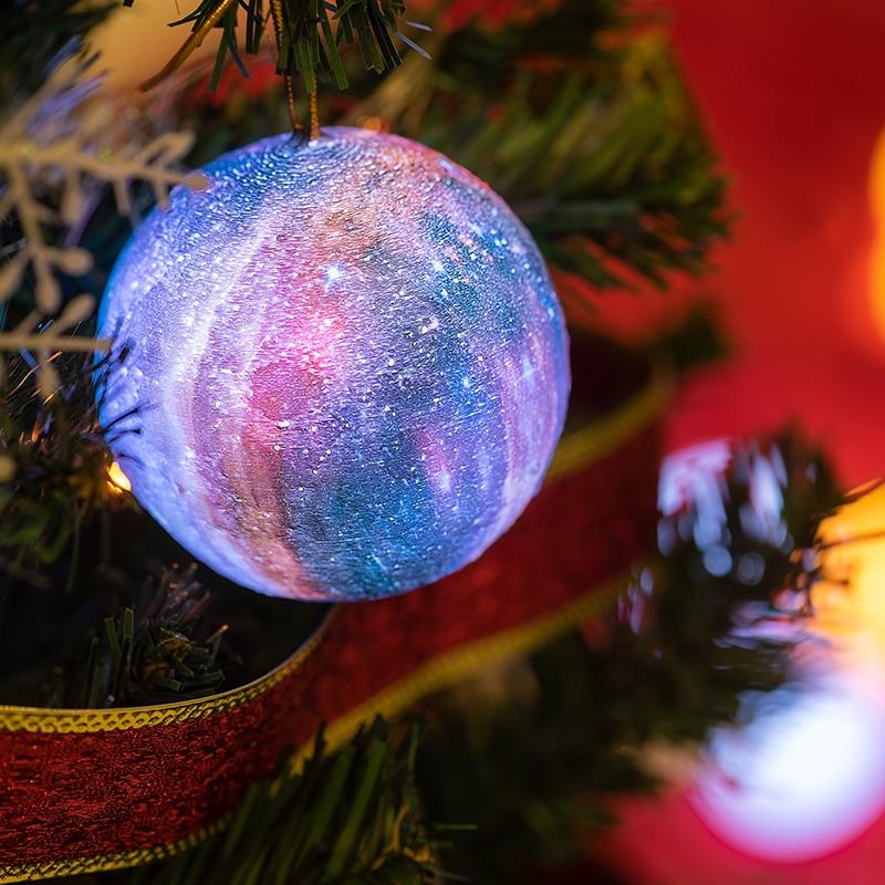 2019 Dropship 3D Printed Moon Lamp Christmas Decorations For Home Lamp Planetary Lights Galaxy Night Light Christmas Lights Lamp