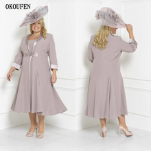 Dusty Plus Size Mother Of The Bride Dresses