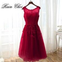 Short Evening dress 2019  Appliques Pearls Women Formal Gown Party Dresses