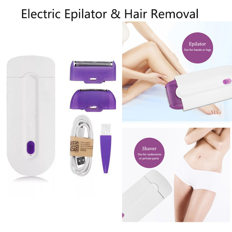 Rechargeable Laser Epilator Women Epilator Hair Shaver Portable Hair Removal Tool Shaving Body Face Leg Bikini Lip Eepilator