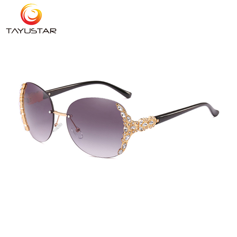 MEESHOW 2020 fashion Europe and America borderless sunglasses trend  diamond luxury high quality women rhinestone sunglasses