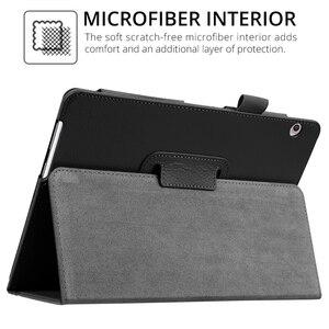 Etui z klapką do Huawei MediaPad T5 10 AGS2-W09/L09/L03 10.1 Tablet pokrywa Funda stojak PU skóra skóra do Huawei T5 10 9.6 T5 Shell