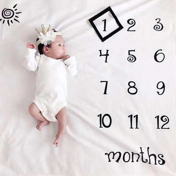 Milestone Photography Props Newborn Baby Photography Blanket Monthly Growth Blanket Background Cloth Commemorate Rug 100X100cm