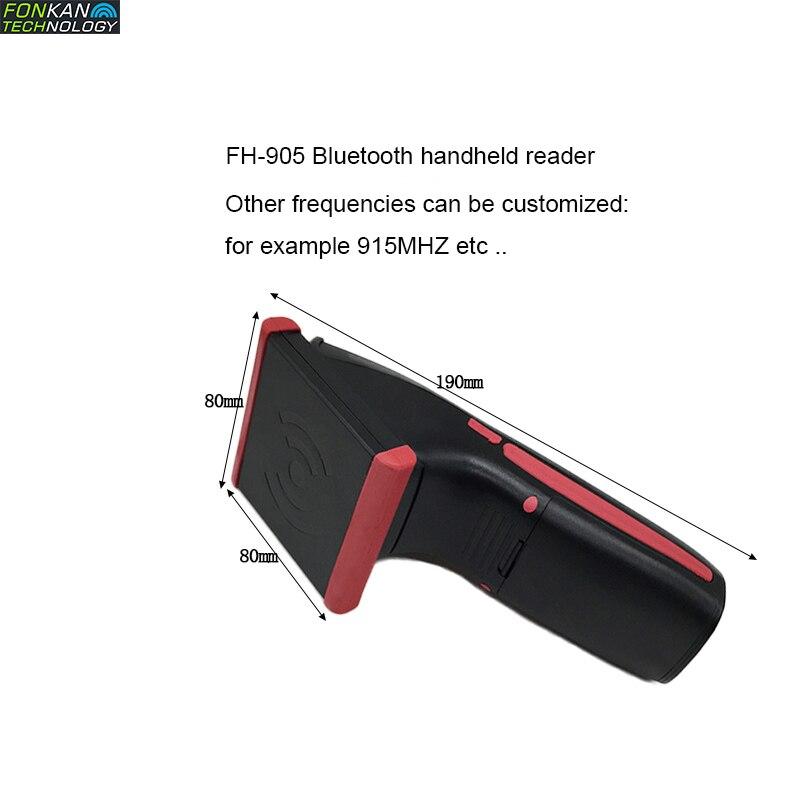 FONKAN портативный сканирующий тег UHF RFID Bluetooth считыватель ISO-18000-6C 2-3 м портативный Bluetooth считыватель JAVA ,C + + микрочип сканер