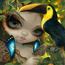 Diamond Painting crystal Cross Stitch 5d Square\Round Mosaic Full Embroidery stickers  Big-eyed girl, yellow owl bird, butterfly