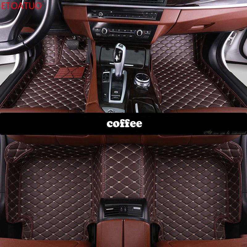 Tapetes do carro personalizado para todos os modelos BMW X3 X1 X4 X5 X6 Z4 f30 f10 f11 f25 f15 f34 e46 e90 e60 e83 e84 e70 e53 g30 carro tapetes e34