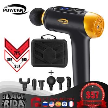 POWCAN Massage Gun Fascia Gun Muscle Relax Massage Electric Massager Fitness Equipment Noise Reduction Design For Male Female