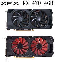 Verwendet XFX RX 470 4GB Grafikkarten AMD Radeon RX470 4GB Bildschirm Video Karten GPU PUBG Computer Video spiel Karte Nicht Bergbau