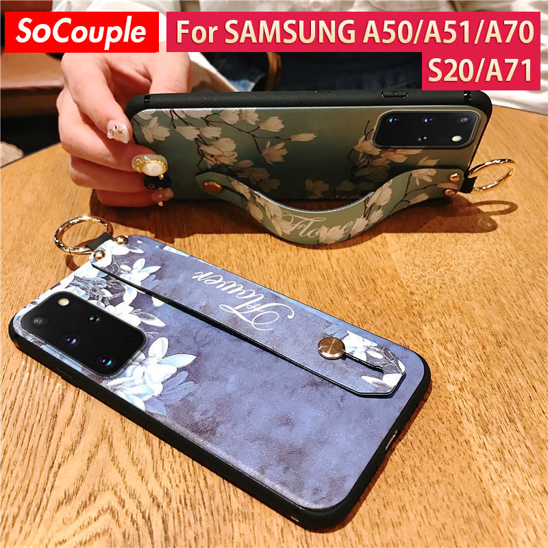 SoCouple Standing Phone Holder Case For Samsung Galaxy With Wrist Strap Case