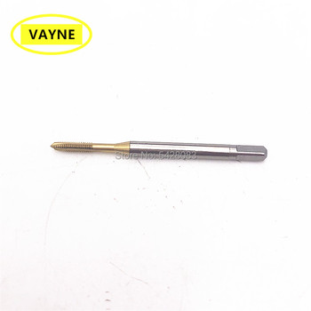 VAYNE HSSE Metric Spiral Pointed Taps with Tin Coated M2/2.3*0.4 M2.2/2.5/2.6*0.45 Fine Thread screwM2/2.2/2.5*0.25 M2.5*0.35
