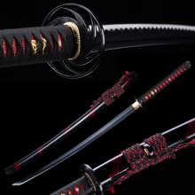 Katana Japanese Sharpened Knife Sword Blade Ninjato Handmade Black-Color Full-Tang New