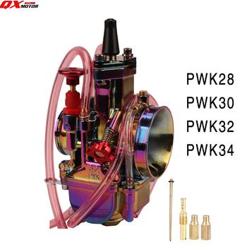 Multicolor gaźnik motocyklowy 28 30 32 34mm turbo Carb motor terenowy 4T PWK Carburador 125cc 150cc 250cc skuter ATV QUAD tanie i dobre opinie qxmotorracing CN (pochodzenie) Aluminium alloy 0 51kg Improving engine power QX-CLPWK-02 13cm