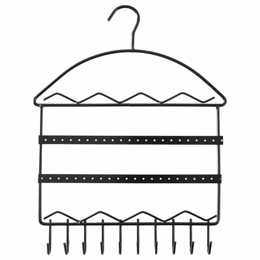 Girls Earrings Necklace Metal Jewelry Rack Earring Stand Display Holder Jewlry Organizer Vintage Wall Mount Hang Holde organizer