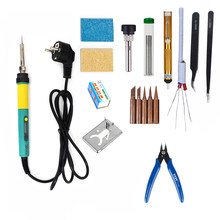100W Electric Solder Besi Adjustable Suhu LCD Tampilan Digital 220V Welding Solder Besi Tips Perbaikan Pengerjaan Ulang Alat Kit uni Eropa(China)