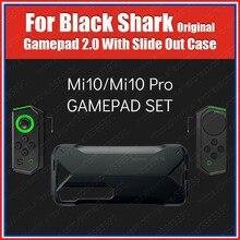 Hj66 dupla bluetooth gamepad com slide para fora caso ferroviário para xiaomi mi 10 mi10 pro gaming controle joystick h66l h66rs