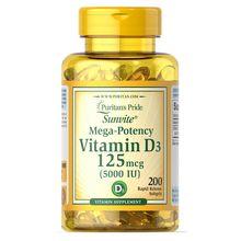 Sunvite Mega-potency Vitamin D3 5000 IU 200 Softgels