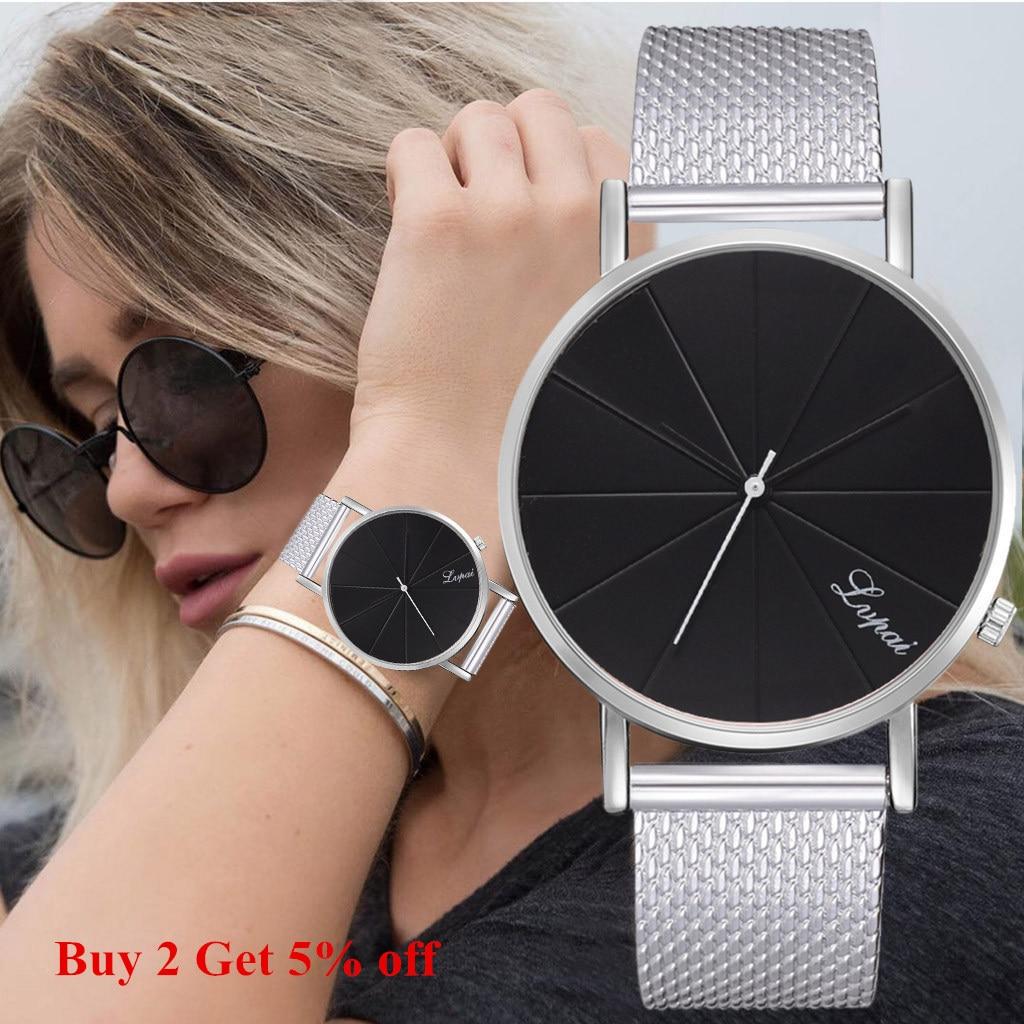 Women's Watch Famous Brand Minimalist Silicone Mesh Simple Watch Women Waterproof Wrist Watches Reloj Relogio Feminino