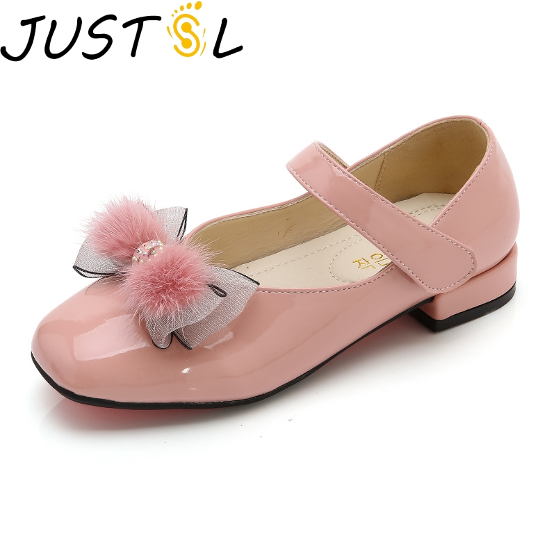 JUSTSL 2020 Spring Small High Heel Girls Princess Shoes Kids Casual Thin Shoes Children Wild Sandals Size 27-37