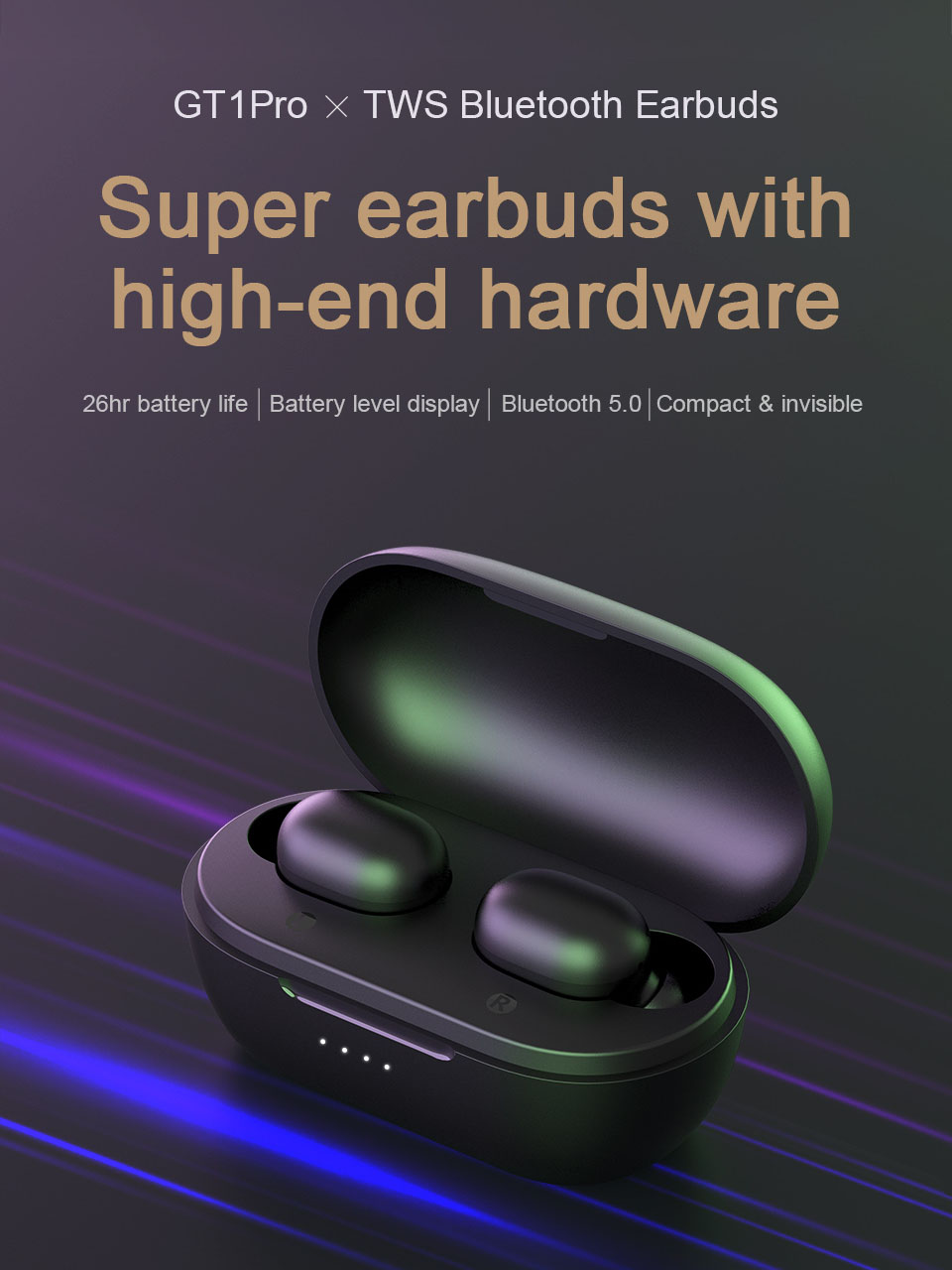 Haylou TWS Bluetooth Earphones Battery Touch-Control Stereo Pro Long Noise Wireless