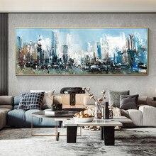 Pittura a olio astratta dipinta a mano belle immagini di arte del paesaggio su tela per la decorazione domestica quadri astratti di arte moderna della parete