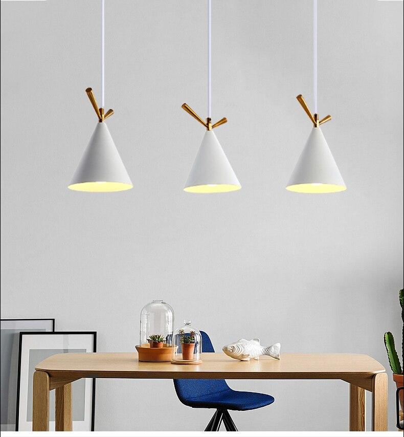 Restaurant un lustre moderne concis trois têtes Ins Rectangle cuisine extrême Simple tête réception boîte lampe de Table