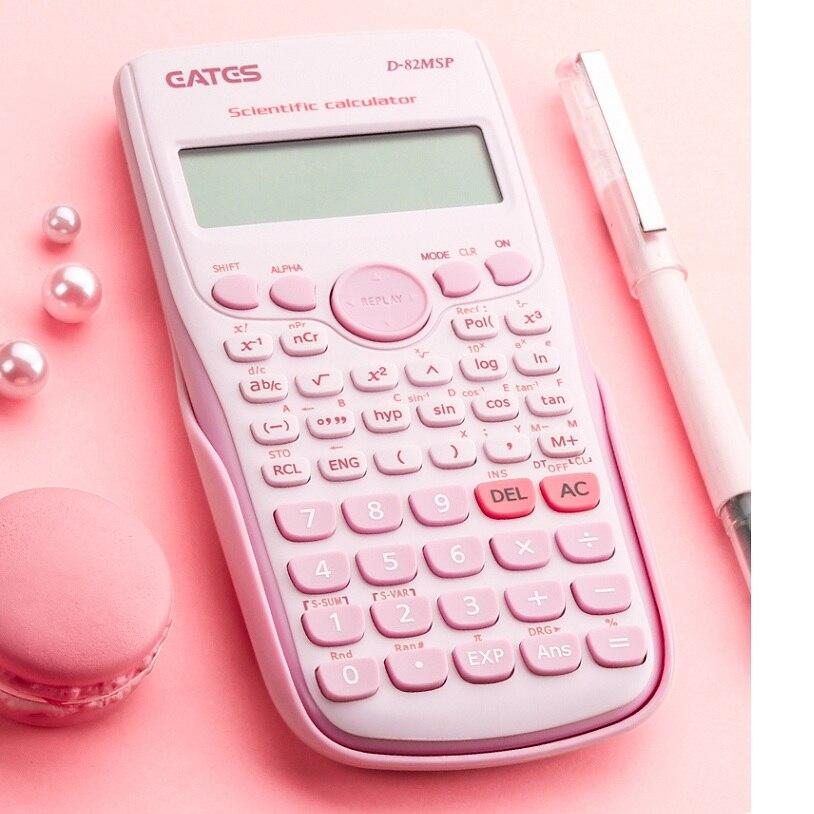 Dijital bilimsel hesap makinesi 240 fonksiyonları istatistikleri matematik 2 satır ekran D-82MSP öğrenci okul lisans