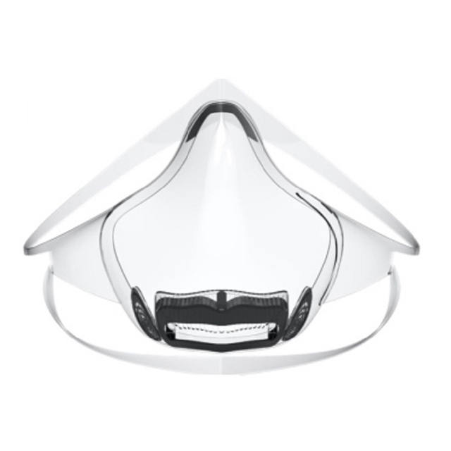 Clear face mask a radical alternative clear shield respirator, washable