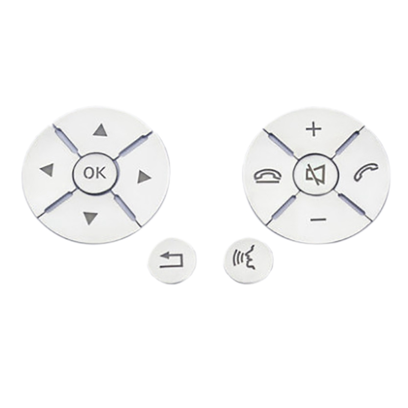 Car Interior Steering Wheel Button Switch Trim Cover <font><b>Sticker</b></font> for Mercedes Benz C E S Class W204 W212 W221 GLK X204 <font><b>C200</b></font> C250 image