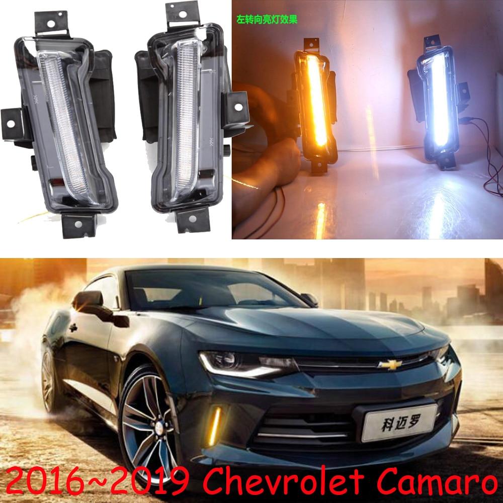 Car Bumper Headlight For Camaro Daytime Light 2016~2019y DRL Car Accessories LED Headlamp Camaro Fog Light
