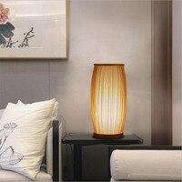 الحديثة الصينية الخوص اليد محبوك الجدول مصباح ل بهو غرفة نوم شريط شقة ديكور الإبداعية مكتب ضوء 1913