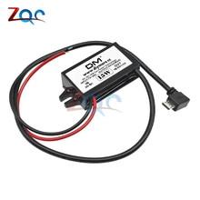 Micro USB Выход DC-DC преобразователь регулятор 15 Вт 12 В до 5 В пост 3A Max понижающий модуль питания Buck Водонепроницаемый