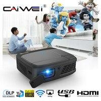 CAIWEI H6W Смарт DLP Мини карманный проектор Wifi 3D Проекторы 3300 люмен 1080P Full HD Домашний кинотеатр тв переносной видеопроектор HDMI