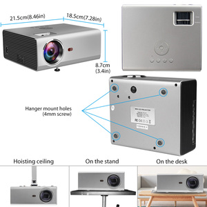 Image 5 - Rigal RD825 Mini proyector nativa de 1280x720P LED WiFi 3D proyector Android 6,0 Beamer soporte HD 1080P TV portátil de cine en casa Altavoz incorporado