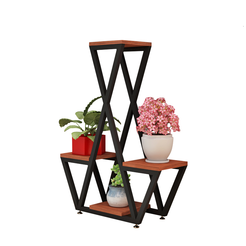Iron Art Flower Rack Shelf Balcony Many Function A Living Room Northern Europe Originality Indoor Landing Type Flowerpot Frame