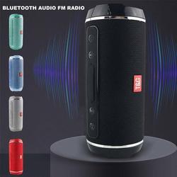 Caixa de som com auto falante bluetooth 40W, sem fio e à prova d'água, USB/TF/AUX MP3, portátil e de uso externo, estéreo de graves, reprodução de músicas Subwoofer de alta potência