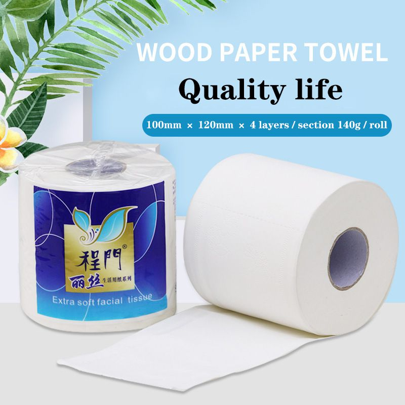 Household Affordable Roll Paper 140g Toilet Towel Toilet Paper FCL Thickened Roll Paper 1 Roll24