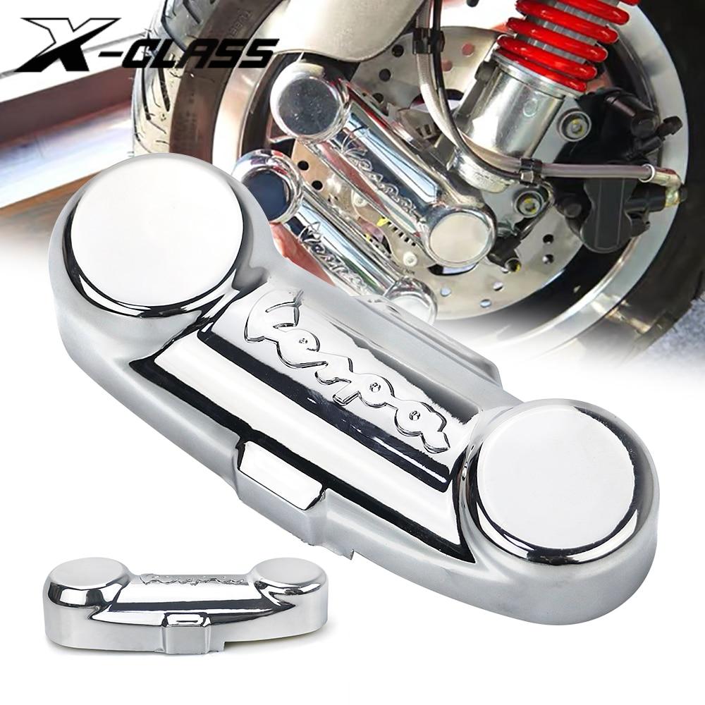 Couvercle de fourche de roue avant de moto, accessoires de liaison de Suspension pour Piaggio Vespa PX 125 150 200 LML STAR T5 CLASSIC 125 20MM
