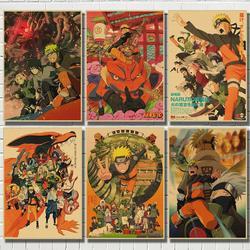 Винтажный постер аниме Наруто, Постер Наруто в стиле ретро, Декор для дома