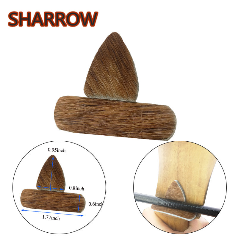 5 Set Archery Arrow Rest Traditional Leather Self-Adhesive Arrow Silent Plate Recurve Bow Longbow Hunting Shooting Accessories