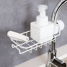 Household Stainless Steel Sink Faucet Hanging Storage Rack Storage Holder Sponge Kitchen Shelf Drain Dry Organizer