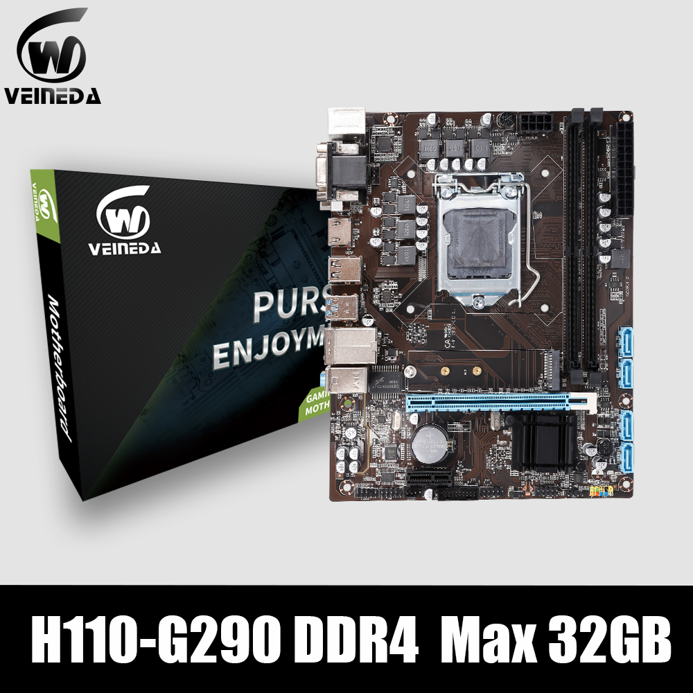 VEINEDA DDR4 Motherboard lga 1151 H110 G290 support ddr4 memory <font><b>2400</b></font> 2666 MAX 32GB for <font><b>Intel</b></font> <font><b>Core</b></font> i7/<font><b>i5</b></font>/i3/CPU mATX image